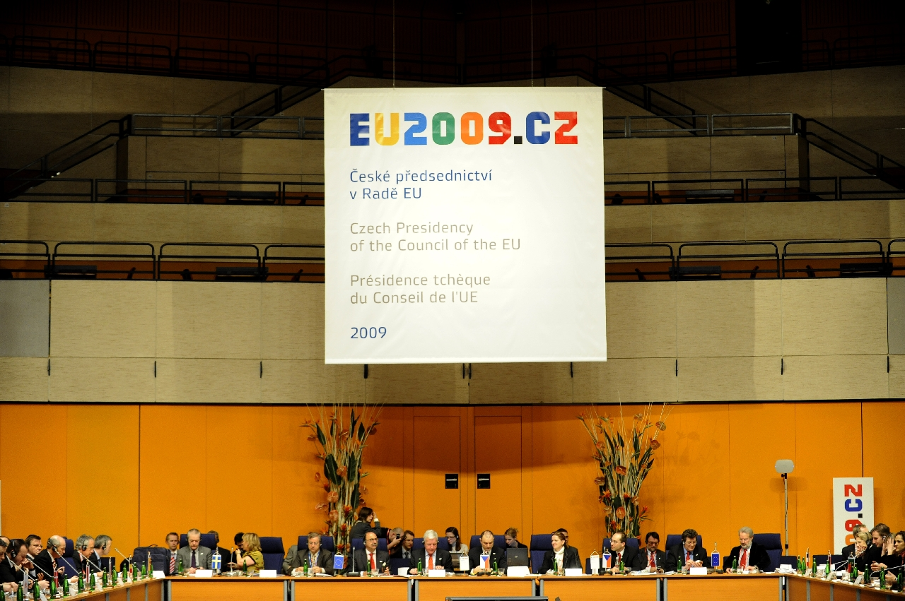 Předsednictví Rady EU./Presidency of the Council of the European Union.